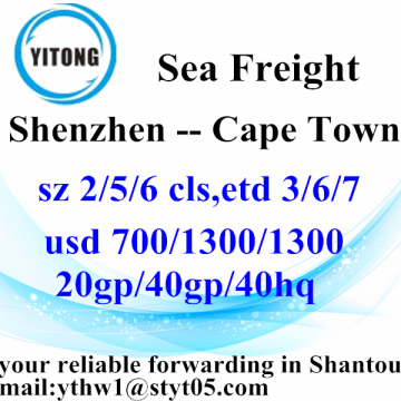 Shenzhen Sea Freight Shipping to Cape Town