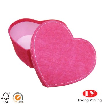 Luxury heart shape paper wedding packaging box