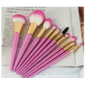 2020 Cherry Pink Crystal Handle Cosmetics Brush Suit