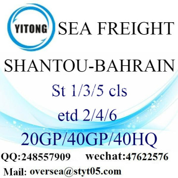 Shantou Port Sea Freight Shipping To Bahrain