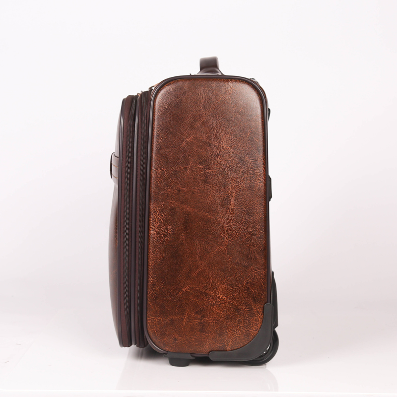 pu leather luggage