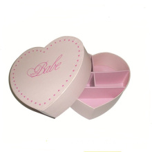 Heart Shaped Wedding Favor Box With Divider