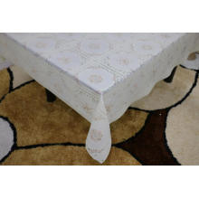 sewing Printed pvc lace tablecloth by roll