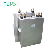 Low frequency power water cooled heating capacitors