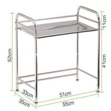 Multi-layer Stainless Steel Storage Rack with Wheeled Cart
