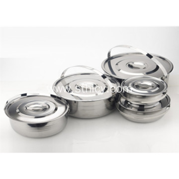 5 Piece Multiclad hindi kinakalawang na asero na Kusang Cookware