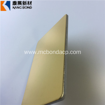 Golden Lightweight Plastic Outdoor Building Material