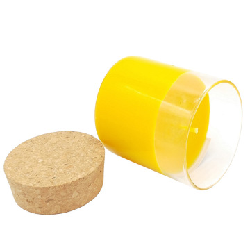 Cork Lid glass container paraffin wax candles
