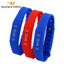 rfid chip nfc access control rfid silicone wristbands