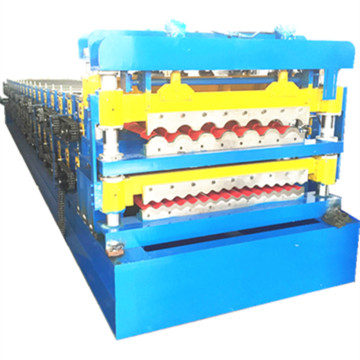 Double layer roof and wall roll forming machine