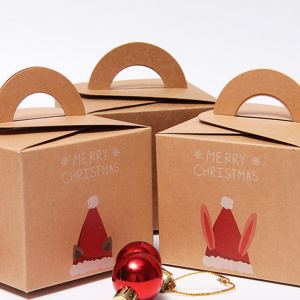 Custom Cheap Recycle Christmas Gift Package Box