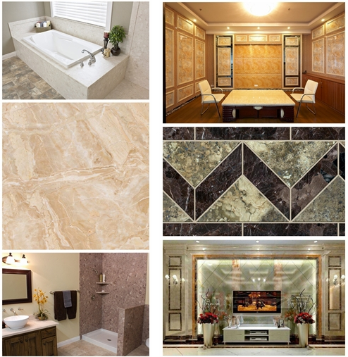High Gloss PVC Wall Panel Artificial Marble