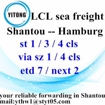 Good Quality for LCL Transport Freight Forwarder Shipping from Shantou to  Hamburg export to Portugal Factory