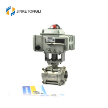 JKTLEB090 automated v port 1/8 inch ball water valve
