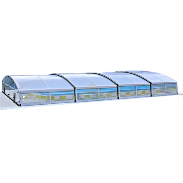 Retractable Roof Rigid Cover Swimming Pool Dome