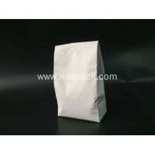 Top for Paper Coffee Bag Packaging White Matte Plastic Quad Seal Bag supply to Armenia Supplier
