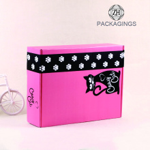 10 Years for Carton Shipping Box Pink color clothing folding paper mailing box supply to Venezuela Factory