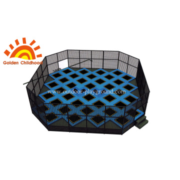 Free Jumping Square Trampoline Park