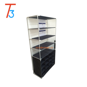 6 tier 16 compartments plastic and metal shoe rack handbag storage organizer