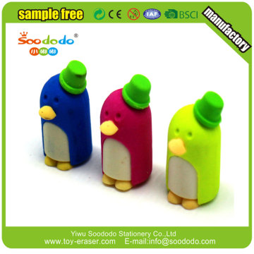 old Cute 3D penguin puzzle eraser