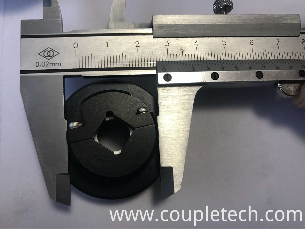 Optical crystal mount for KTP V type