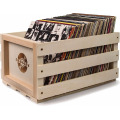 Holds up 75 Albums Natural Record Storage Crate