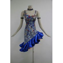 Factory directly sale for Ladies Latin Dresse Blue latin dresses for girls supply to Latvia Importers