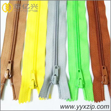 smooth nylon plating sliver teeth zipper