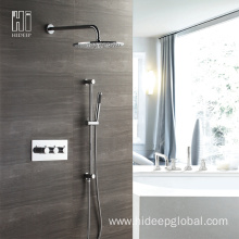 Popular Design for Thermostatic Shower Mixer Faucet HIDEEP Thermostatic Rainfall Shower Faucet Set supply to Armenia Manufacturer