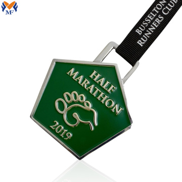 Custom metal and enamel medal for award