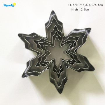 Stainless steel 5pcs Set Snowflake Cookie Cutter Set