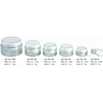 Empty Acrylic Cosmetic jars Cream Plastic Jar With Lids