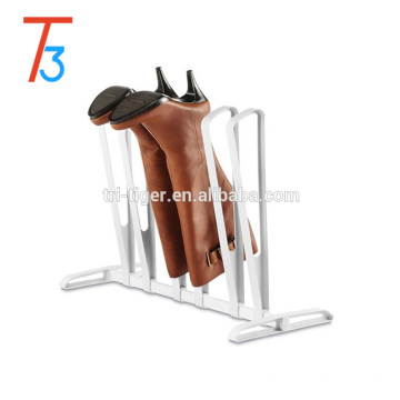 Plastic 3 Pair stackable shoe rack for boots