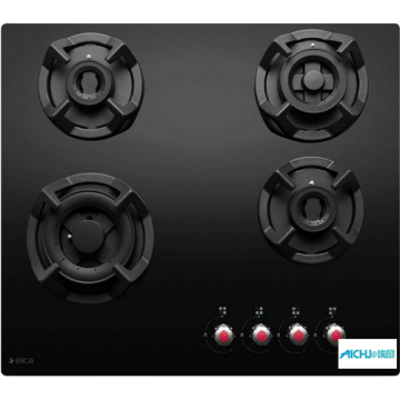 Classic Black Glass Built-in Hob 4 Burner