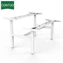 Customized for Four Legs Standing Desk,Standing Computer Desk,Motorized Office Desk Manufacturers and Suppliers in China Metal Office Computer Table Frame For 2 Person supply to Guyana Factory