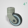 4 Inch Hollow Rivet Swivel TPR PP Material Medical Caster