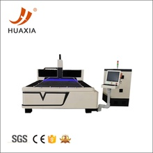 CNC fiber laser cutting machine on working