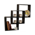 Intersecting Squares Decorative Wall Shelf