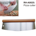 Stainless Steel Pizza Cutter with Wood Handle