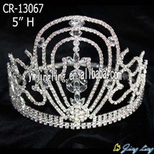 5 Inch Hair Accessories Rhinestone Princess Tiaras