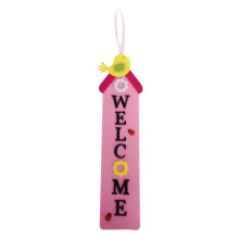 Easter house shape hanging wall sign