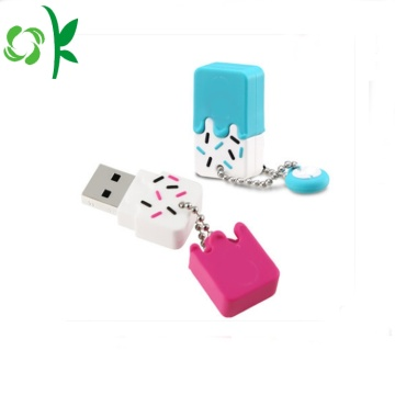 Ice-cream Silicone USB Flash Drive Case U-disk Cover