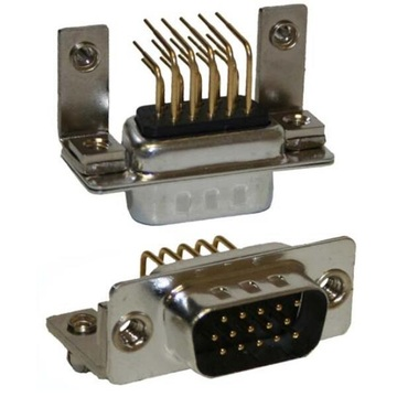 D-SUB High Density Male Machine Pin 9.4mm Footprint
