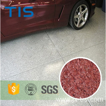 Vinyl color Flakes Polymer Garage Floor Flakes