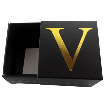 Black Sliding Cardboard Drawer Gift Paper Box