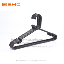 Customized Supplier for for Plastic Clothes Hanger,Plastic Garment Hanger,Pp Plastic Hangers For Clothes Manufacturer in China EISHO Havy Duty Black Plastic Tubular Coat Hanger export to South Korea Exporter