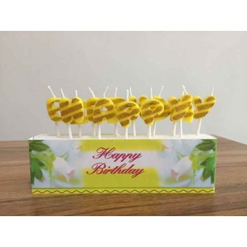 Happy Birthday Shaped Cake Candle