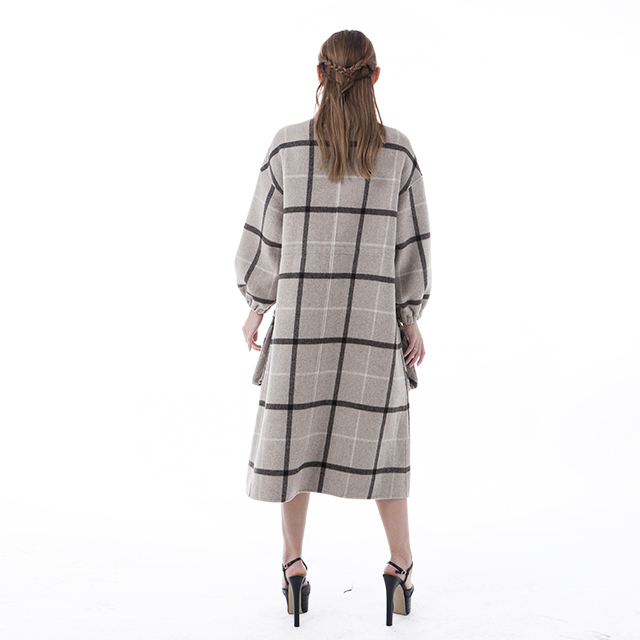 Square cashmere winter coat