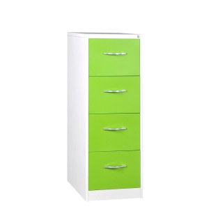 Green 4 Drawer File Cabinet