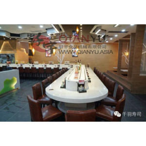 Super Purchasing for China Double-Track Rotary Sushi Conveyor Belt,Rotary Sushi Conveyor Belt,High Stablity Sushi Conveyor Belt Manufacturer Nylon Belt for Sushi Restaurant Conveyor supply to France Suppliers